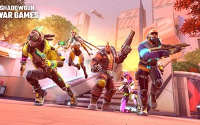 Picture fiction, robots, cyborgs, characters, run, Shadowgun War Games