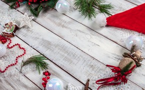 Picture decoration, balls, Christmas, New year, new year, Christmas, balls, wood, decoration, fir tree, fir-tree branches