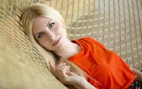 Picture look, face, hand, portrait, hammock, Tatiana, Alexey Nazarov