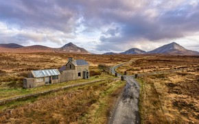 Picture mountains, road, Ireland, Donegal, Gortahork
