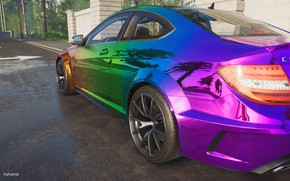 Picture car, Mercedes, car, the crew 2, c63 amg coupe black series