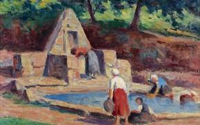 Picture picture, genre, Maximilien Luce, Maximilien Luce, 1914-15, CarMaster. Laundress