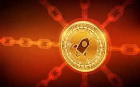 Picture fon, chain, stellar, cryptocurrency, blockchain, stellar, xlm