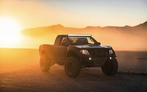 Picture the evening, Nissan, pickup, 2019, 600 HP, V8 turbocharged, 5.6 L., Frontier Desert Runner Concept