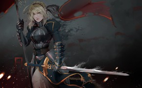 Picture Armor, Sword, Warrior, Fantasy, Warrior, Knight, Illustration, Knight, Character, Fate/Zero, Sword, Characters, Armor, Epic, Fate …