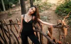 Picture girl, deer, neckline, Kaan Altinda!