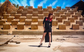 Picture the sun, design, sexy, pose, design, model, makeup, figure, dress, tattoo, hairstyle, shoes, legs, Djennipher …