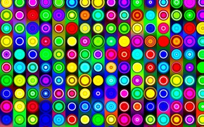 Picture circles, strip, colorful