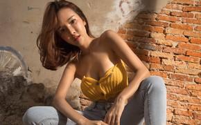 Picture girl, portrait, Asian