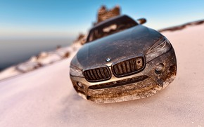 Picture HDR, BMW, Sky, Winter, X6M, Mountain, Snow, Game, SUV, Ocean, Cold, Offroad, UHD, Xbox One …