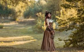 Picture dress, hat, retro, park, A Diakov George
