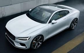 Picture machine, auto, asphalt, Volvo, Volvo, white, Hybrid, hybrid, Volvo Polestar 1
