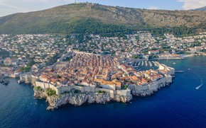 Picture sea, the city, top, Croatia, Adriatica, Dubrovnik, Jadran