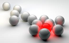 Picture balls, light, color, the volume