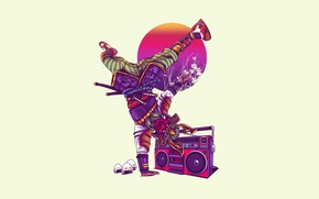 Picture Color, Minimalism, Music, Style, Background, Samurai, Art, Art, Style, Tape, Background, Minimalism, Hastaning Bagus Penggalih, …