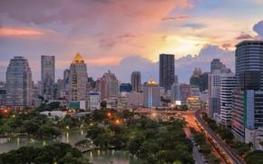 Picture the city, building, panorama, Thailand, Bangkok, Thailand, skyscrapers, Bangkok