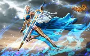 Picture girl, warrior, League of Angels, League of angels