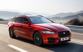 Picture speed, Jaguar, universal, Sportbrake, 2017, Jaguar XF, R-Sport