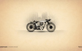 Picture 1929, Motorcycle, Norton Cafe Racer