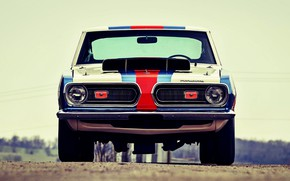 Picture Front, Barracuda, Plymouth, Race car