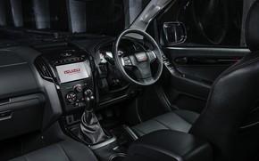 Picture black, pickup, Isuzu, in the cabin, D-Max, 2019, X-Rider Black