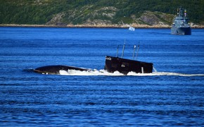 Picture ascent, submarine, the project 877, Kaluga