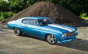 Picture Chevrolet, Blue, Coupe, Chevelle, Muscle car, Supercharged, Vehicle