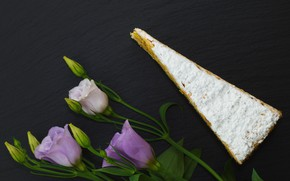 Picture flowers, cheese, Eustoma