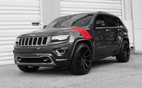 Picture machine, tuning, SUV, SRT8, wheels, drives, grey, tuning, wheel, SRT, Jeep, Grand Cherokee, Jeep Grand …