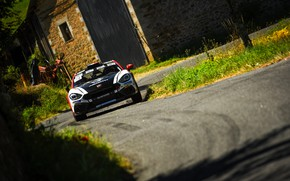 Picture asphalt, house, rally, 2018, Abarth, 124 Rally