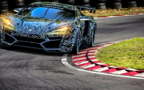 Picture Auto, Machine, Lights, Rendering, Supercar, Concept Art, The front, Sports car, SuperSport, Lykan, Transport & ...
