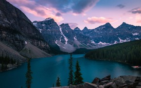 Picture forest, mountains, Park, Canada, Banff National park, Lake Moraine, photographer David Dai