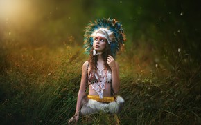Picture girl, nature, style