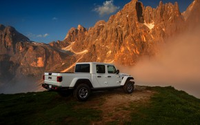 Picture white, tops, SUV, pickup, Gladiator, ass, 4x4, Jeep, Rubicon, 2019