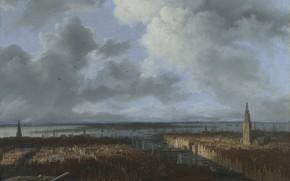 Picture landscape, picture, Jacob van Ruisdael, Jacob van Ruisdael, Panoramic view over Amsterdam