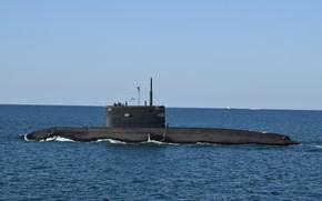 Picture submarine, The black sea, Veliky Novgorod, author Erne