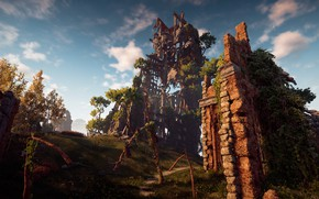 Picture ruins, exclusive, Playstation 4, Guerrilla Games, Horizon Zero Dawn, the lost civilization