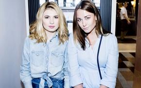 Picture look, pose, makeup, two, actress, Ingrid Olerinsky, Anna Tsukanova-Cott