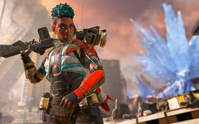 Picture girl, weapons, Apex Legends, Bangalore