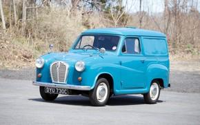 Picture Blue, Vintage, Van, 1956, Austin A35 Van