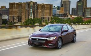 Picture the city, Honda, sedan, Hybrid, Insight, hybrid, Touring, four-door, 2019