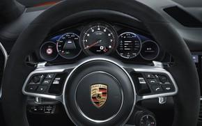 Picture Porsche, speedometer, the wheel, Coupe, Turbo, Cayenne, dashboard, 2019