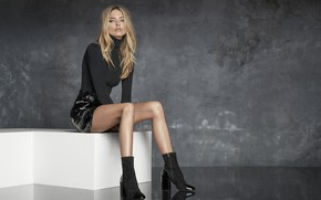 Picture look, girl, pose, style, model, hair, beauty, Martha Hunt