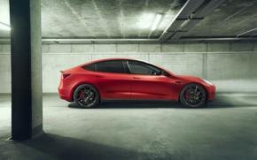Picture side view, Tesla, Novitec, Model 3, 2019
