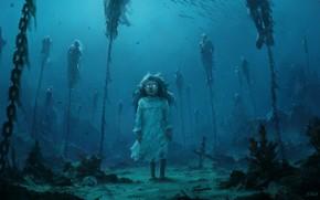 Picture Water, Sea, Chain, Fantasy, Art, Ghost, Illustration, Horror, Creepy, Stefan Koidl, by Stefan Koidl, The …