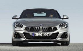 Picture grey, BMW, Roadster, the front, BMW Z4, M40i, Z4, 2019, G29