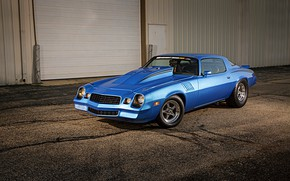 Picture Chevrolet, Muscle, Camaro, Car, Blue