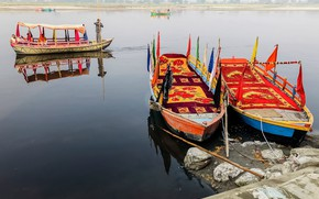 Picture river, people, india, boating