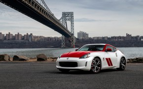 Picture bridge, coupe, Nissan, red-white, 370Z, 50th Anniversary Edition, 2020, spezzare, 2019