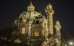 Picture night, the city, the building, Austria, Vienna